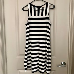 Black & White Striped Swing Dress